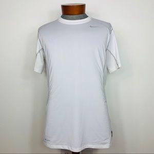 Nike Pro Combat Dri-Fit Fitted Crewneck SS Shirt L